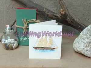 Boat Quilling Card