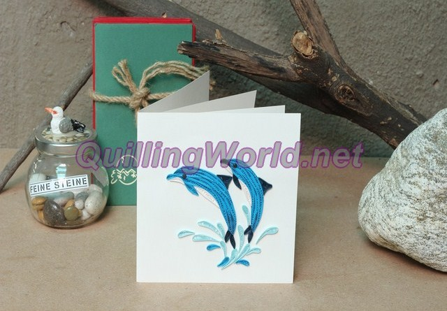 Dolphin Quilling Card