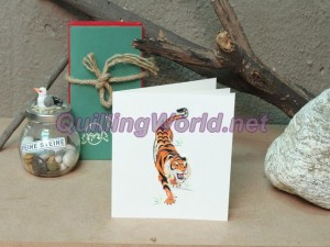 Tiger Quilling Card