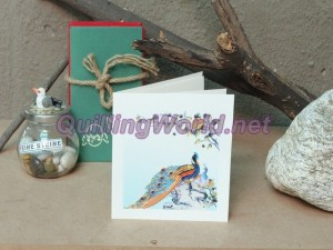 Peacook Quilling Card