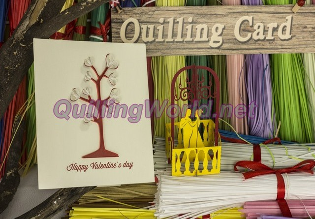 pop-up card 3D kirigami quilling-card, quilling-paper quilling 038