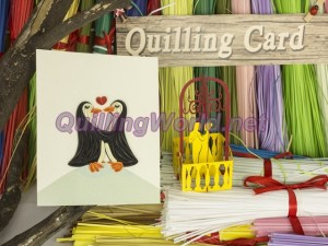 Sweet Couple Quilling Card