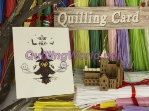 Halloween Quilling Card