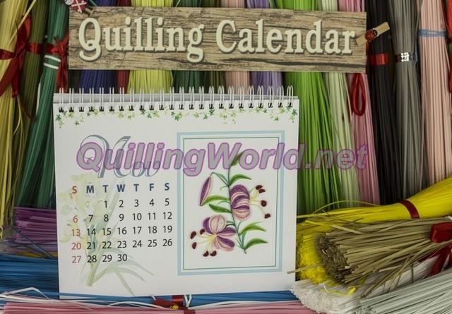 Quilling Calendar