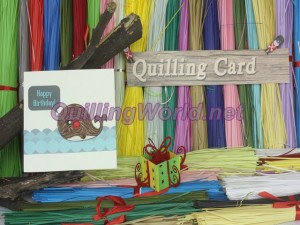 Lovely Whale Quilling Card