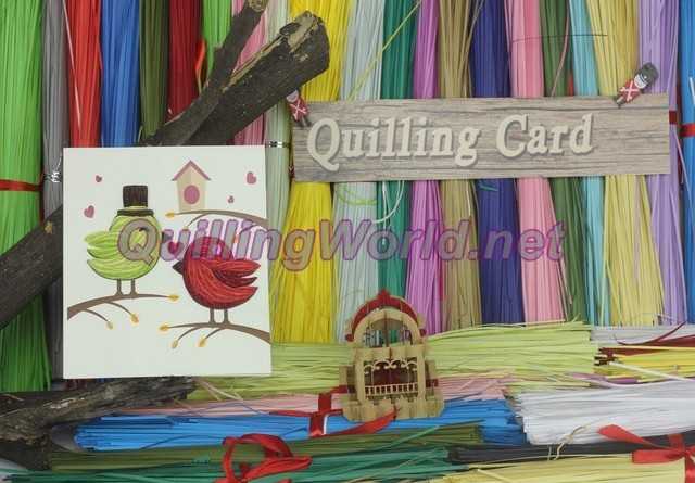 Bird Quilling Card